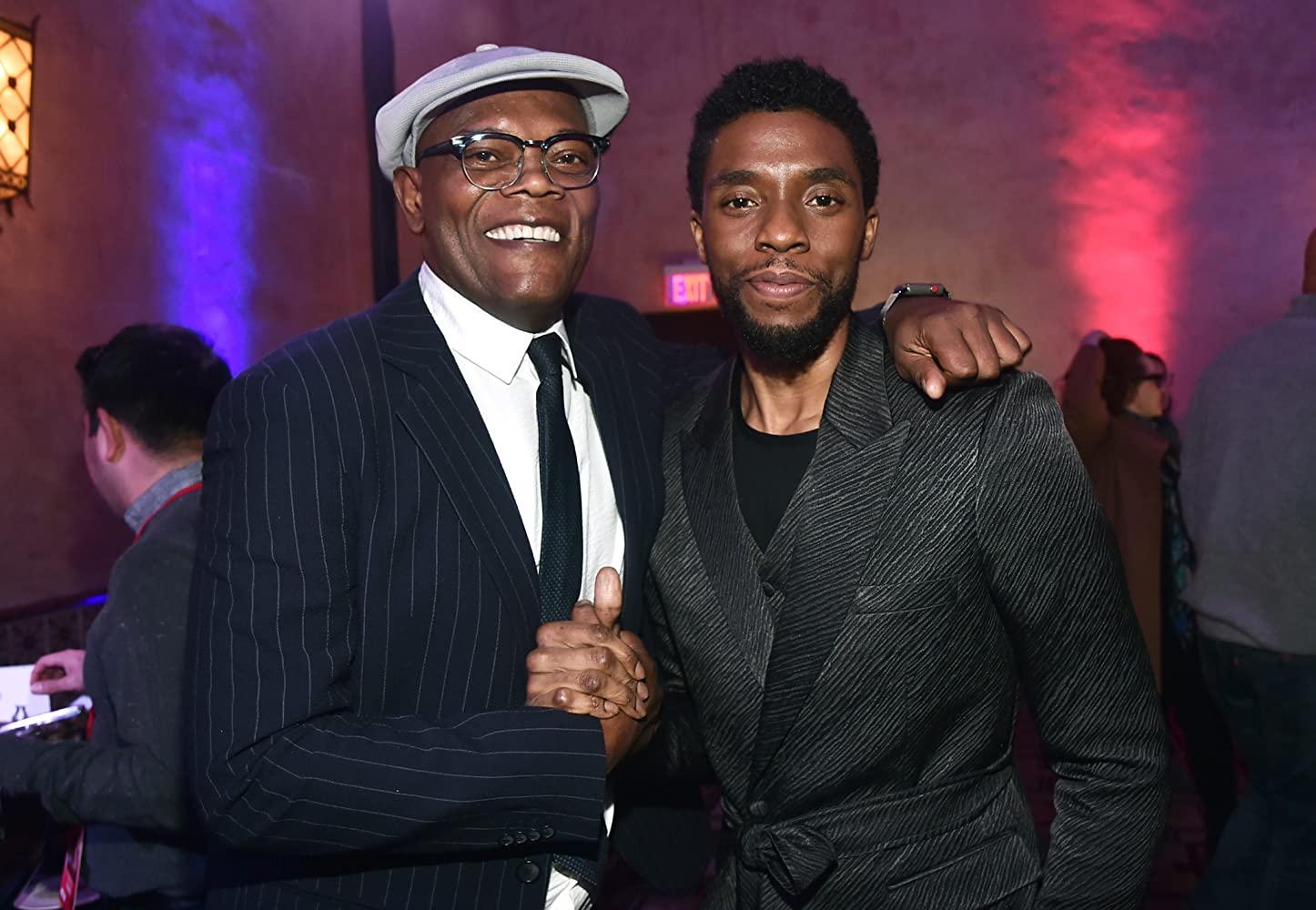 Samuel L. Jackson and Chadwick Boseman