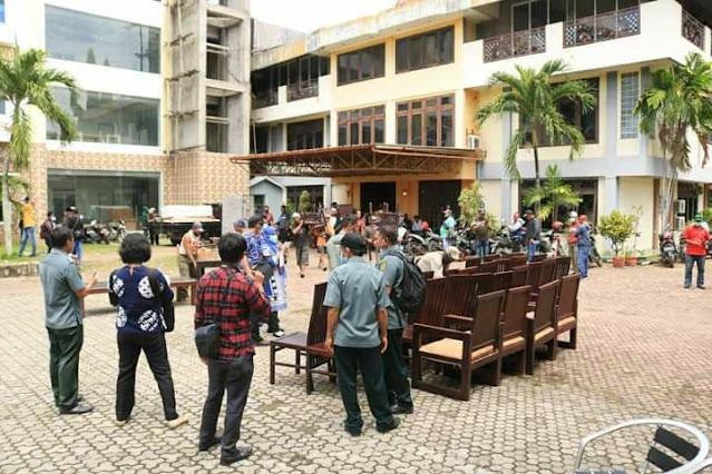 Pengosongan Hotel Mutiara Kotaraja, 140 Personil Gabungan Diturunkan