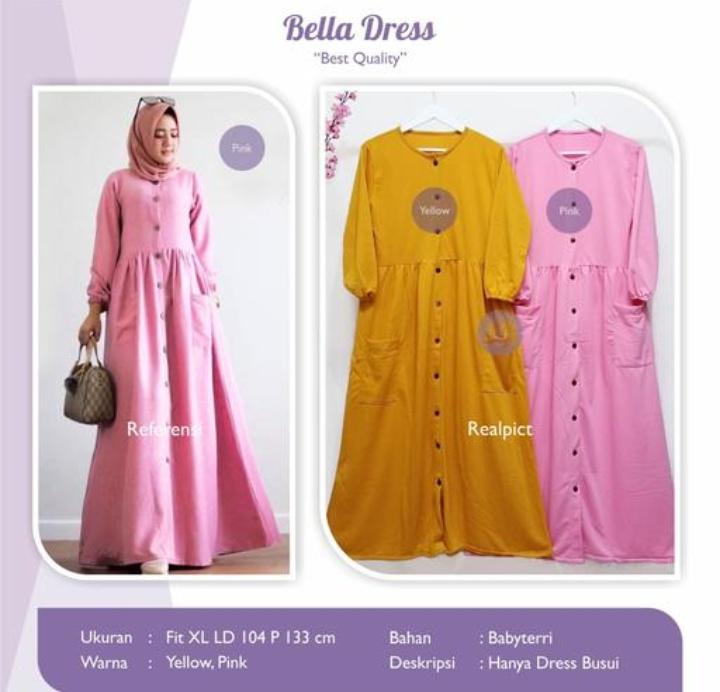 Jual Baju Busana Muslim Bella Dress