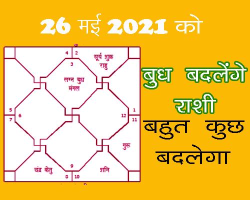 26 May 2021 ko Budh Badlenge Rashi
