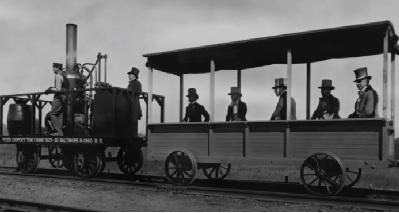 ट्रेन का आविष्कार किसने किया था उसका नाम बताइए