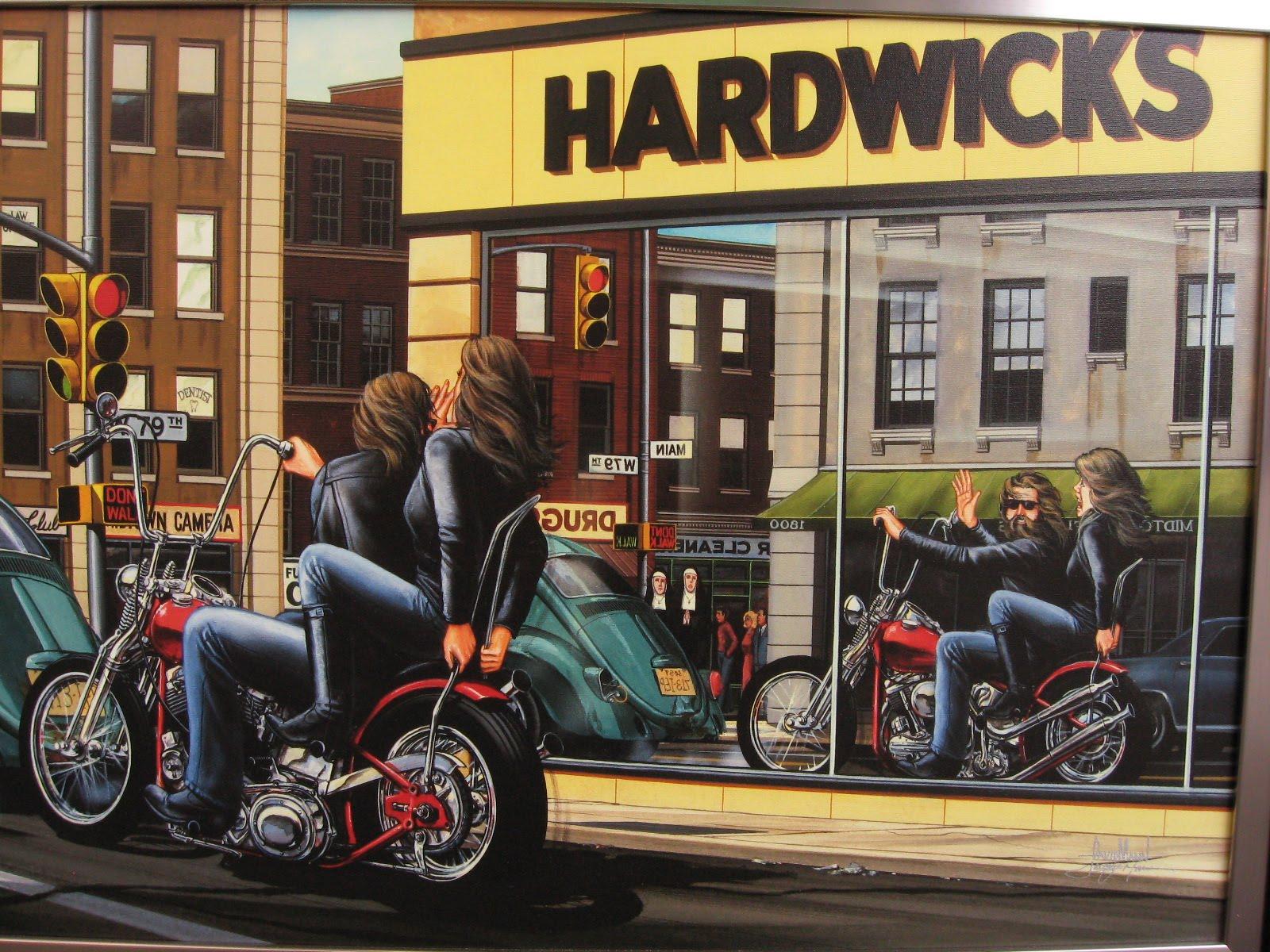 motoblogn david mann the norman rockwell of biker art gallery 2
