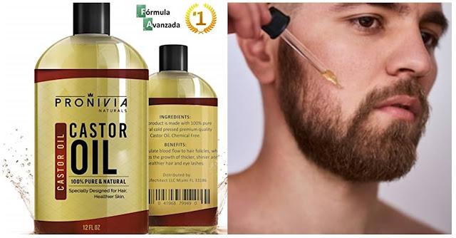 Consejos de cómo usar el aceite de ricino para hacer crecer la barba.