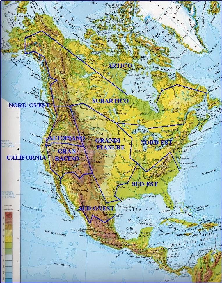 America Nord Cartina.Pietreterra Culture E Aree Culturali Dei Nativi Nord Americani