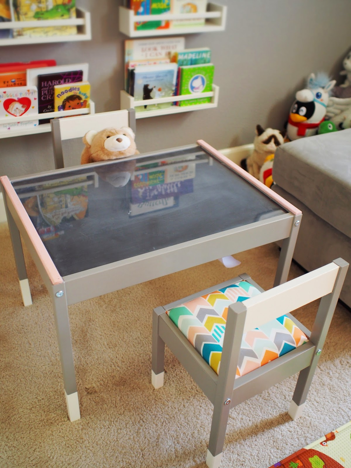Children S Playroom Sofa 2 Seat Reclining Leather Chibitofu A 39s New Play Table An Ikea Latt Hack