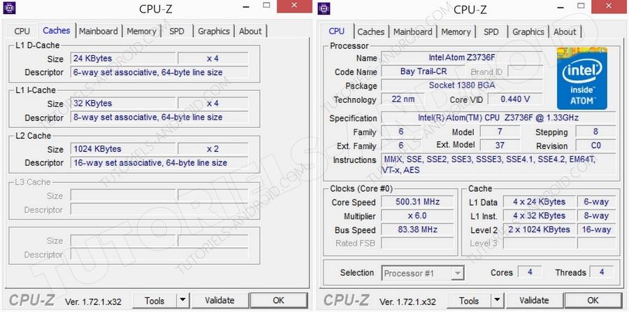 CPU-Z : Teclast X98 Air