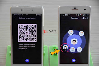 Zapya using QR Code