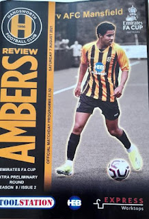 Match programme, Handsworth FC v AFC Mansfield, FA Cup