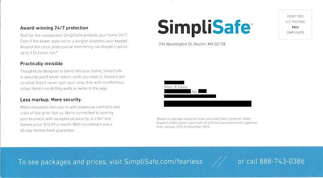 SimpliSafe Solicitation - Address Side