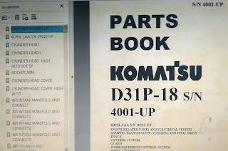 Part Book Bulldozer Komatsu D31P-18