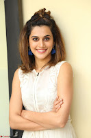 Taapsee Pannu in cream Sleeveless Kurti and Leggings at interview about Anando hma ~  Exclusive Celebrities Galleries 037.JPG