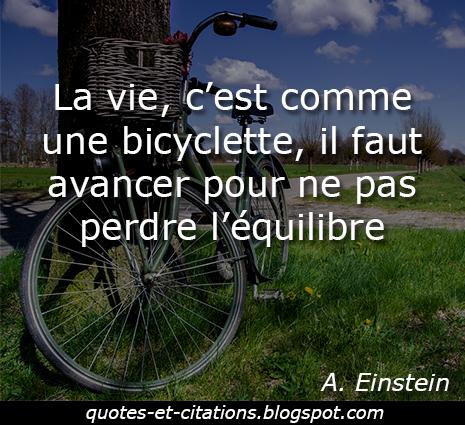 citation vie bicyclette