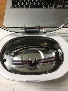 personal-α Ultrasonic cleaner で洗浄