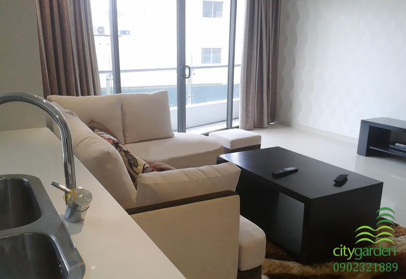 phòng khách căn hộ city garden