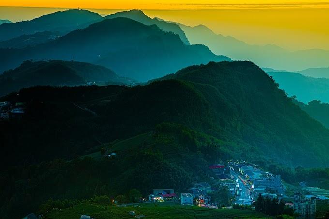 Sunset in Alishan , Taiwan