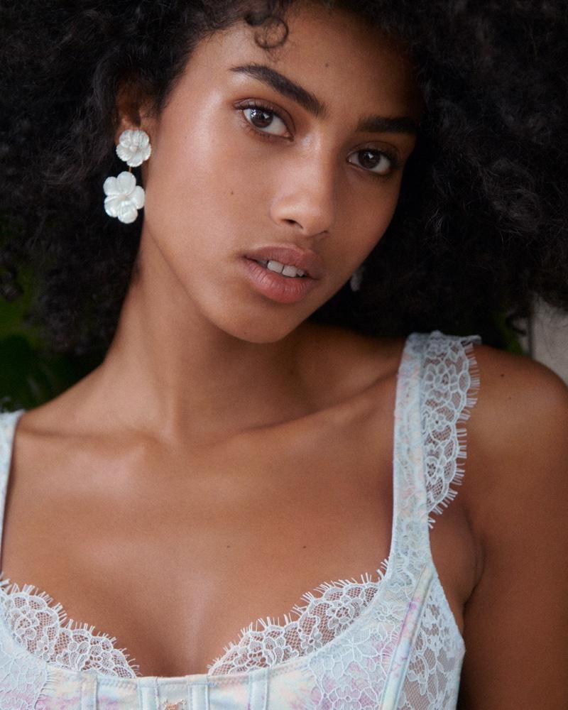 Imaan Hammam stars in Victoria's Secret summer 2021 campaign.