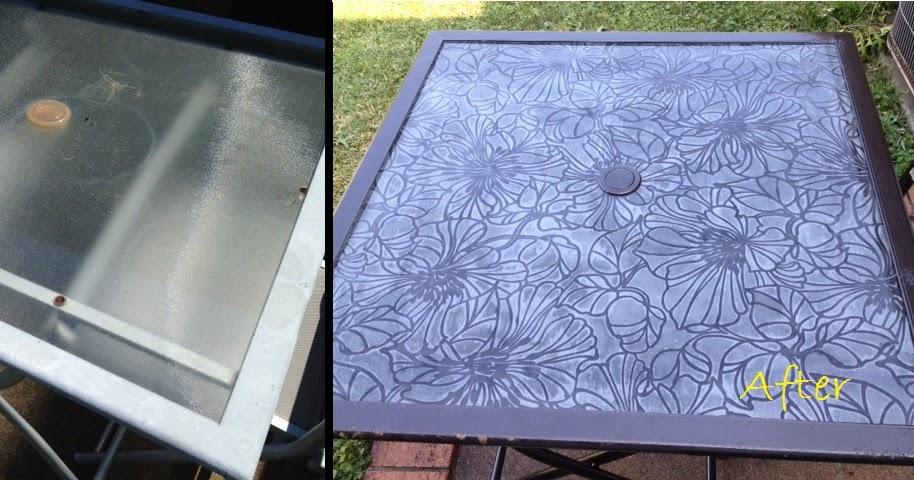 Refresh Renew Restyle Decoupage Glass Tabletop