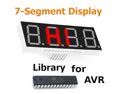 Seven segment display library for AVR microcontrollers