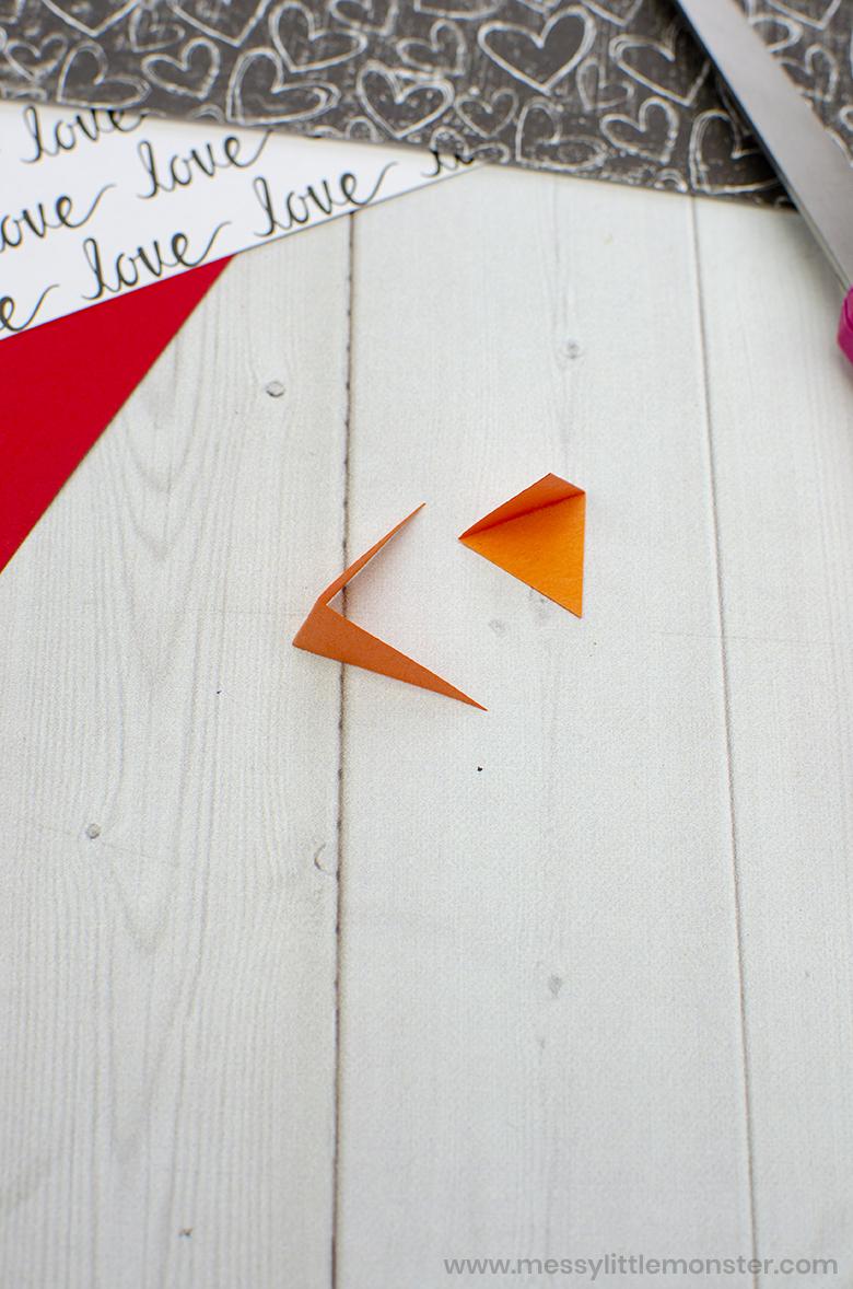 cupcake liner bird craft