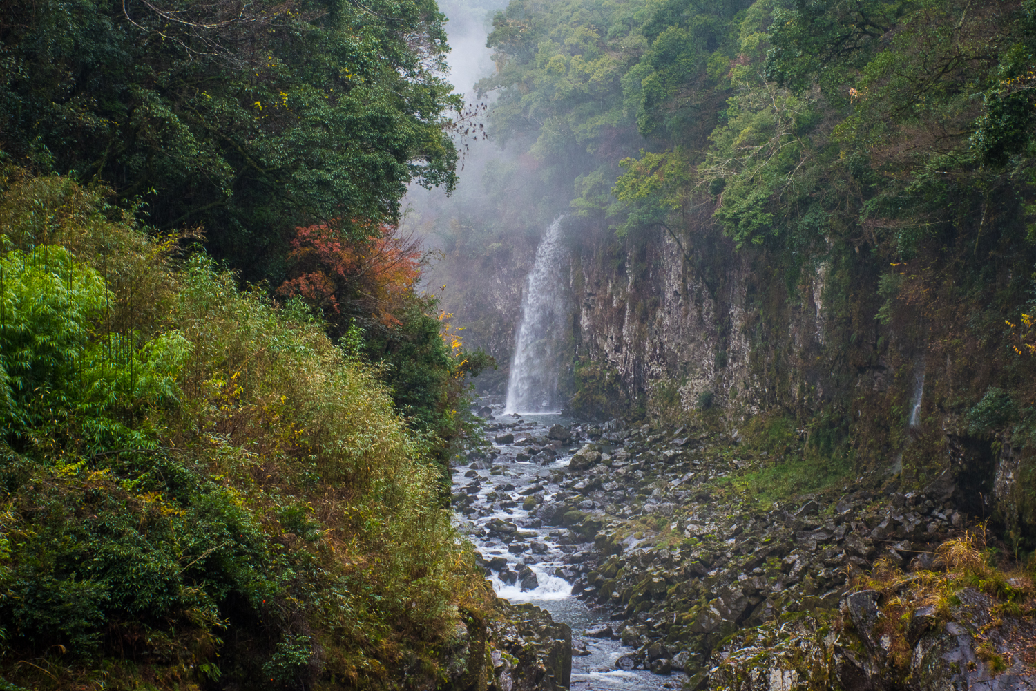 waterfall in takachiho gorge japan
