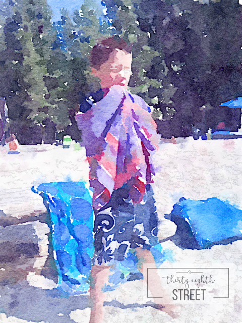 how to make art from your family pictures, how to make inexpensive art, how to use the waterlogue app to make water color pictures