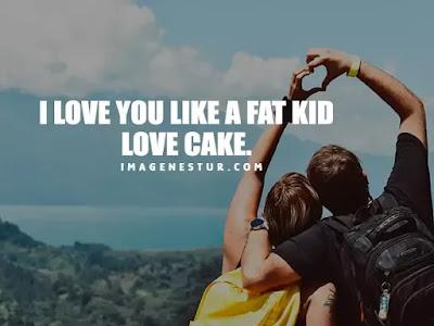 Love Captions-I love you like a fat kid love cake.