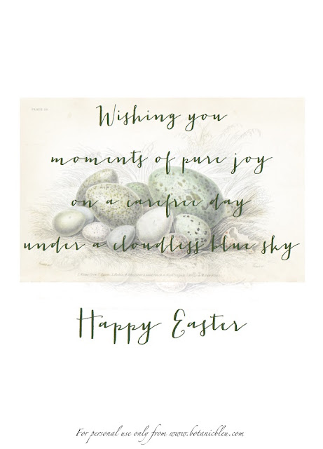 Download free printable for Handmade Easter Card in green ink