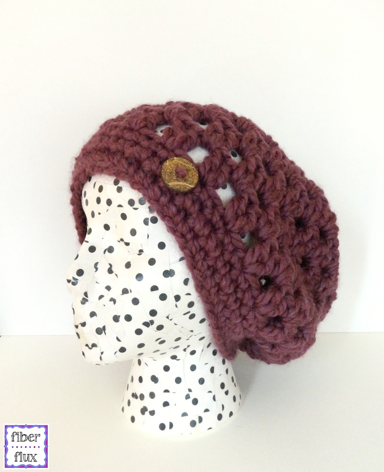 Fiber Flux: Free Crochet Pattern...Fiona Button Slouch!