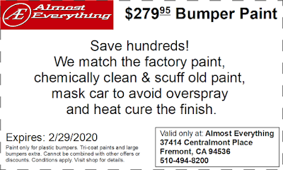 Discount Coupon $279.95 Bumper Paint Sale February 2020