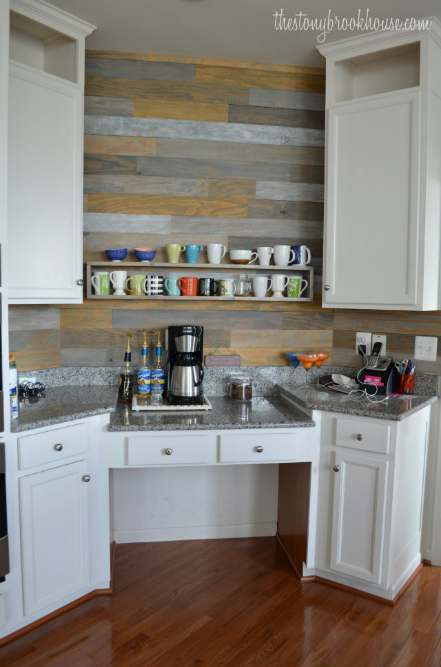Painted Kitchen Cabinets - Coffee Bar