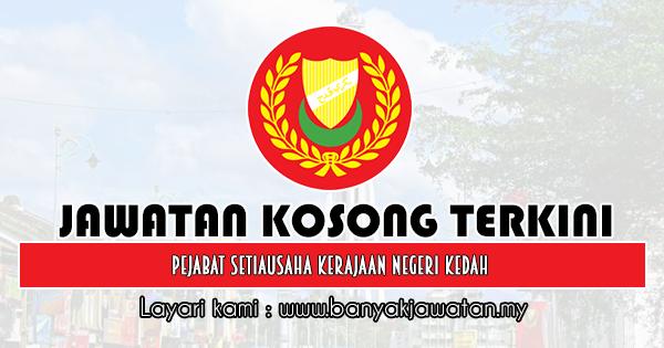 Jawatan Kosong 2019 di Pejabat Setiausaha Kerajaan Negeri Kedah