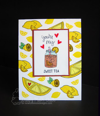 Card for your Sweet-Tea by Crafty Math Chick | Freshly Squeezed, Sweet Summer & Love a la Carte stamp sets by Newton's Nooks Designs