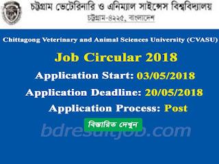CVASU Lecturer Recruitment Circular 2018