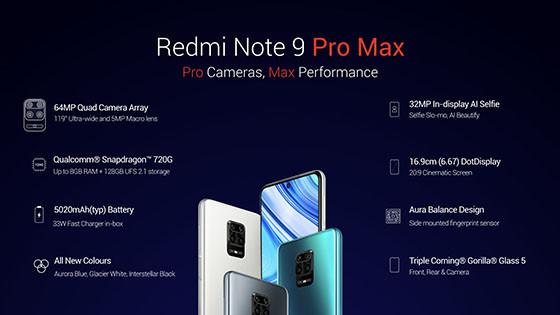 Harga dan spesifikasi HP Redmi Note 9 Pro Max