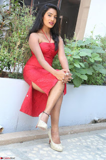 Mamatha sizzles in red Gown at Katrina Karina Madhyalo Kamal Haasan movie Launch event 044.JPG