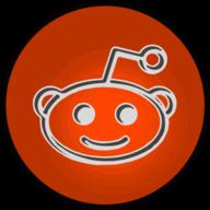 reddit glowing icon