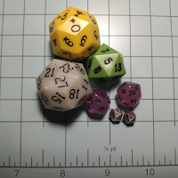 "Some of my various go-to ""travelling dice"""
