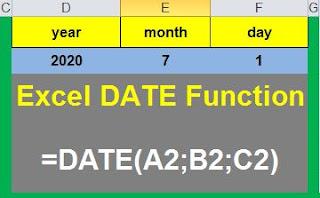 دوال الاكسل | دوال الوقت والتاريخ   Excel DATE Function – Example