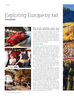 Exploring Europe by rail. Story by Janie Robinson, Travel Writer