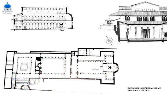 Βασιλική Α΄ Φίλιπποι σχέδιο, κάτοψη