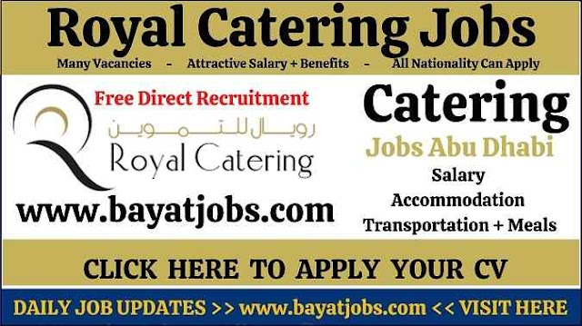 Royal Catering Jobs in Abu Dhabi Free Recruitment