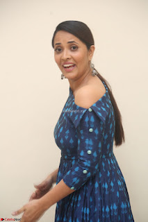 Anchor Anasuya in a Blue Gown at Jai Lava Kusa Trailer Launch ~  Exclusive Celebrities Galleries 024.JPG