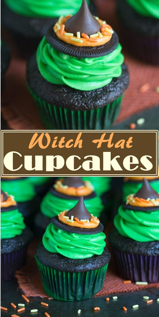 Witch Hat Cupcakes #halloweenrecipes