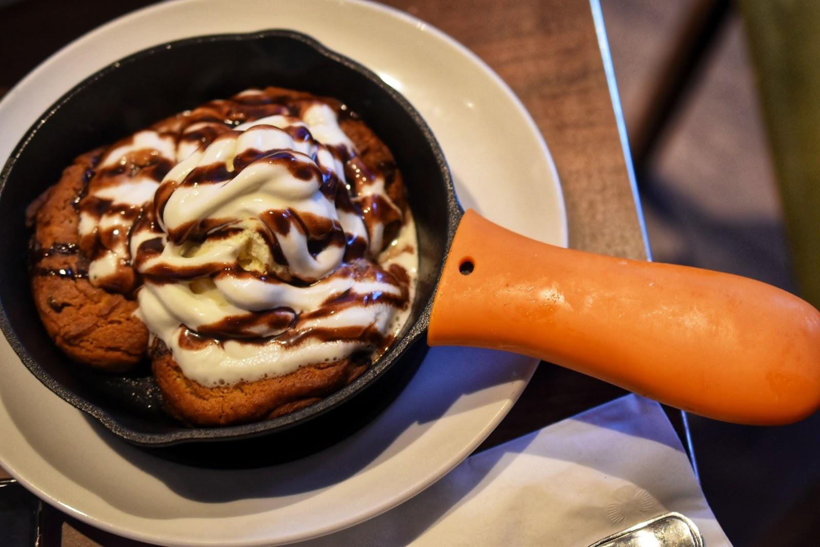 Chocolate Chip Cookie Skillet Dessert