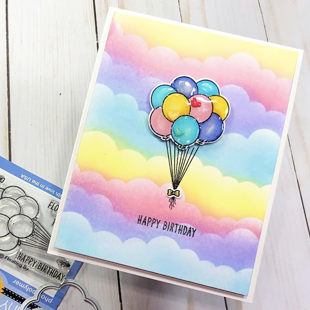 Sunny Studio Stamps: Floating By Customer Card by Diane