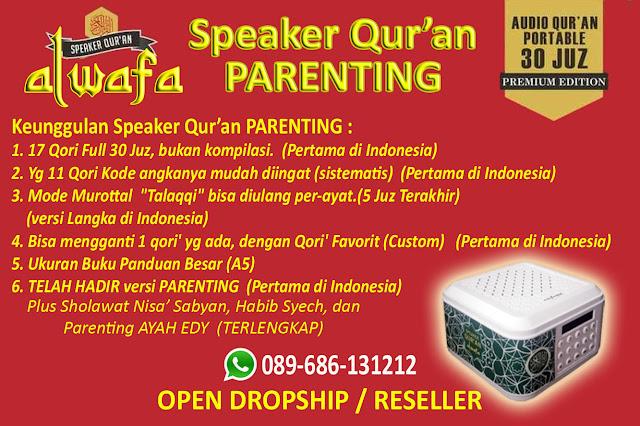 [HOT SALE] Speaker Murottal Al Quran + Sholawat & Parenting
