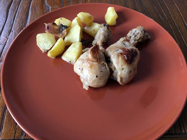 jamoncitos de pollo al ajillo con limón