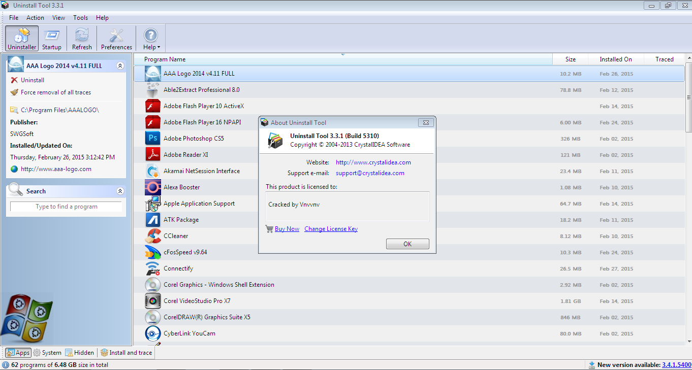 Download Uninstall Tool 3.3.1 Build 5310 Final Terbaru Full Version