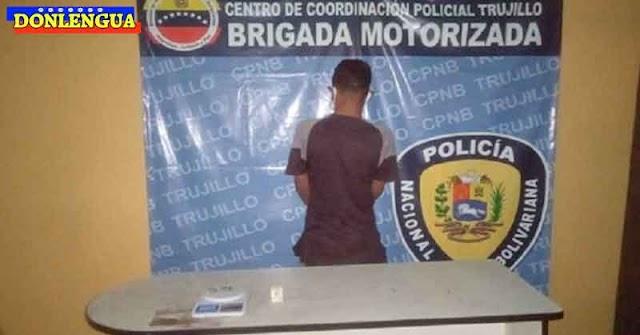 Detenido en Trujillo por portar 2 (Dos) gramos de droga para vender