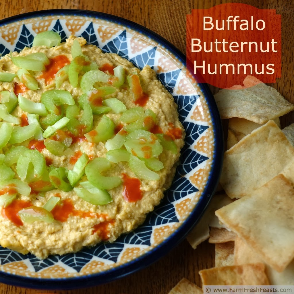 Buffalo Butternut Hummus | Farm Fresh Feasts